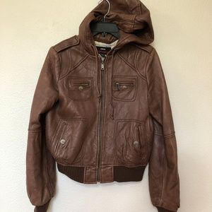 Miss Sixty Genuine bomber leather jacket brown M